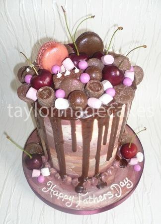 Black forest drip cake