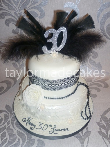 Black lace and feathers