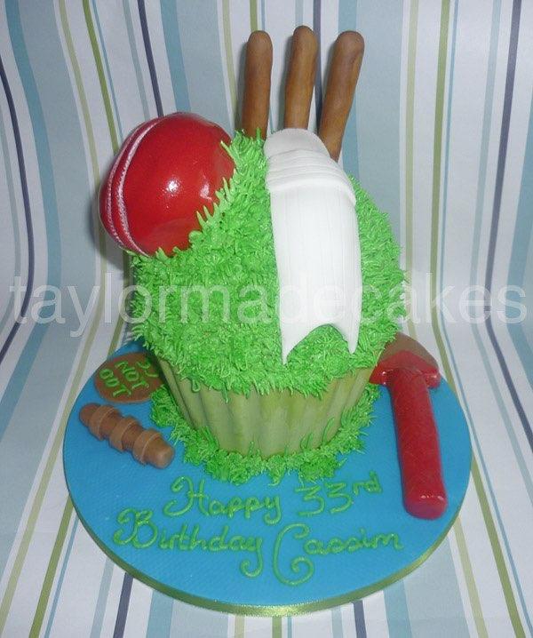 Cricket cupcake
