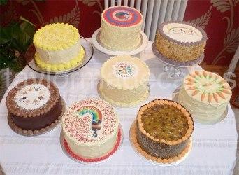 Eight cakes