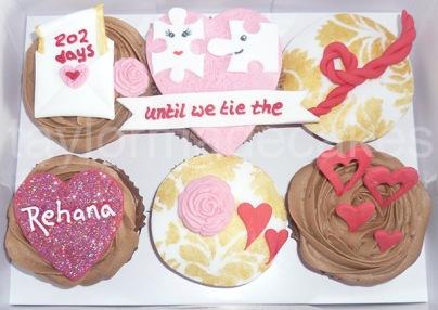 Fiance cupcakes