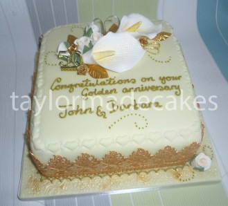 Gold lace anniversary