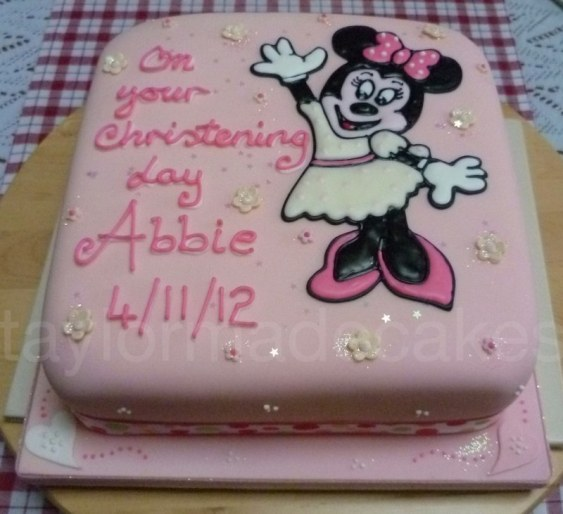 Minnie christening