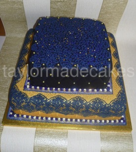 Navy & gold Walima