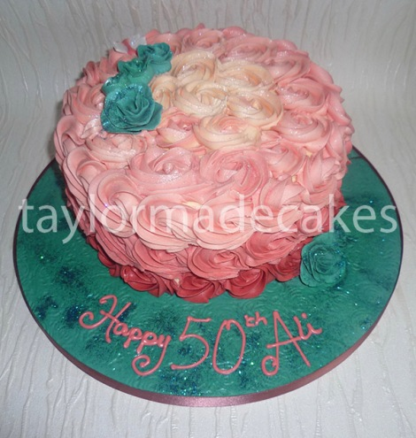 Pink & turquiose roses