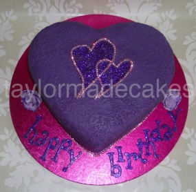 Purple cerise hearts