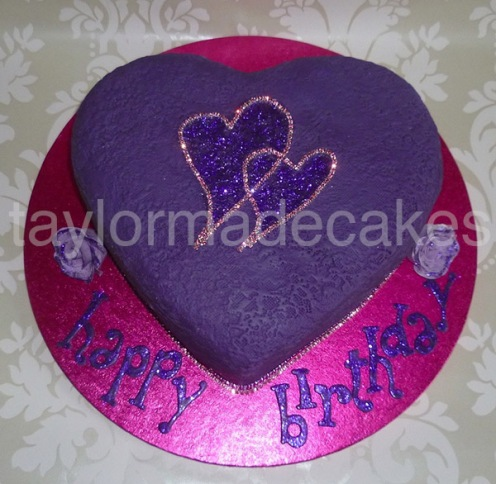 Purple cerise hearts