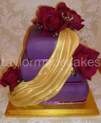 Purple, red & gold