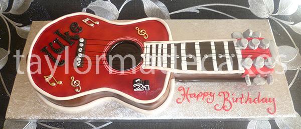Red guitar