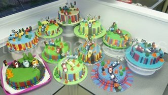 Striped cakes & cars advanced