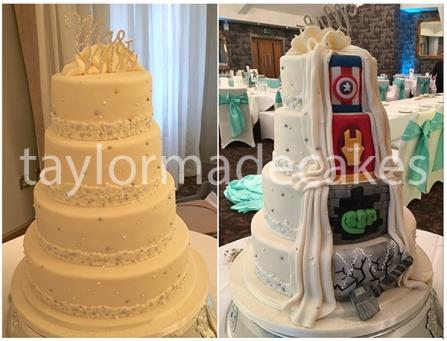 superheroes-wedding-cake