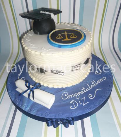 Blue graduation