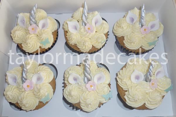 GF unicorn cupcakes