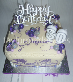 White chocolate and purple