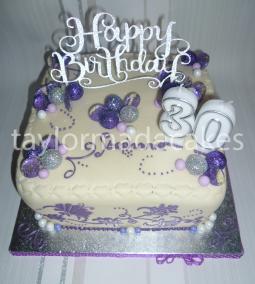 White chocolate and purple