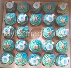 'B' cupcakes