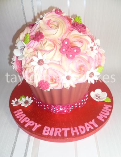 Red velvet giant cupcake