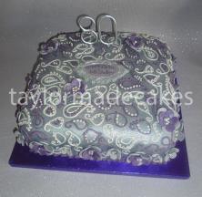 Silver & purple 80th