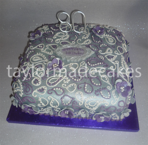 Silver & purple 80th