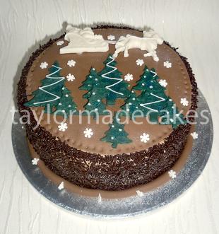 Choc Xmas cake