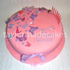 Pilk & lilac butterflies