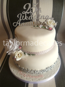 Two tiered 25th anniversary